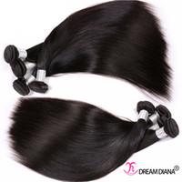Extensions de cheveux vierges non transformés Bundles de cheveux humains Souris Péruvien Malaisien Malaisien Brésilien Cheveux Hair Weave Remy 3 Bundles 300g Grade 10a
