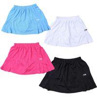 무료 배송, 배드민턴 스커트 하프 길이 스커트 세련된 테니스 스커트 여성 스포츠 안감