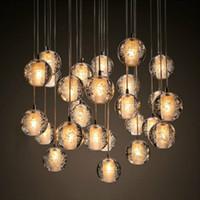 Lustres à cristaux modernes Lighting G4 LED Ampoule Météore Pluie Plafond Pendentif Plafond Lumières de douche météorique Light 110V 220V
