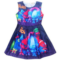 New kids dress girls dresses for 3- 10Y Magic summer high- end...