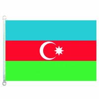 Gute Flagge Aserbaidschan kennzeichnet Fahne 3X5FT-90x150cm 100% Polyester-Landesflaggen, 110gsm Warp-Gestrick-Gewebe-im Freien kennzeichnen
