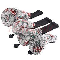 UK Flag y Skull Fairway Wood Headcover Golf Driver Hybriod Putter Cover