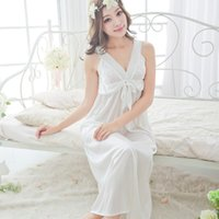 Wholesale- 2015 summer style sexy spaghetti strap nightgown b...