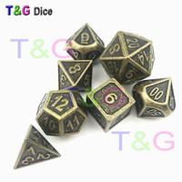 Nouveau style DICE en métal avec boîte en fer - Jeu de couleurs en métal - d20 Heavy RPG DD