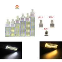 SMD 5050 Yatay Tak Kapalı aydınlatma lambasının E27 G24 G23 AC85-265V 5W 7W 9 W 11W 13W degeree mısır ampul 180 led led ışıklar