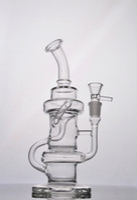 no.cb107 Klein bongo de vidro bocal reciclador de petróleo Toro dab Base Sólida Siren Aparelho Klein com favo de mel 14.4mm conjunta no.cb