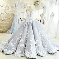 Robe de balle Image réelle Dentelle Vintage coloré Country Country Pays Plus Taille Taille Robes de mariée 2021 Robes de mariée perlées