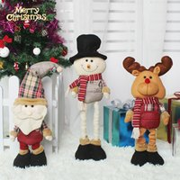 new Christmas supplies Christmas telescopic old doll snowman...
