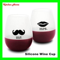 350ml Silicone Wine Glasses Foldable Unbreakable Collapsible...