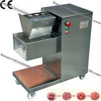 800 KG / H Edelstahl 2,5mm-25mm Kundenspezifische Klinge 110 v 220 v Elektrische Kommerziellen Fresh Meat Slicer Cutter Verarbeitungsmaschine