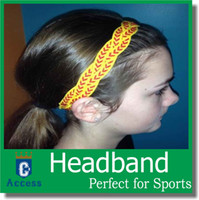 softbol trançado headbands esportes headbands mini softbol headband