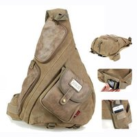 Aerlis large canvas with leather chest bags for men Vintage ...
