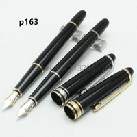 Luxury Pens Classic MONT163 black Fountain pen pen with snap...