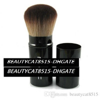 30 unids / lote-al por mayor kabuki retráctil retráctil polvo blusher maquillaje cepillo cabra cabra cara bronzer polvo cosméticos cepillos envío gratis