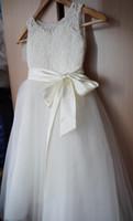 2020 Hot Cheap Girls Dress Princess Childrens Wear Party Veil Girl Wedding Flower Neonate Dress Flower Girl Dress Compleanno