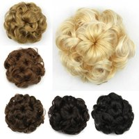 Z&F Chignon Hair Bun 7 Flowers Hairstyle Synthetic Hair Piec...