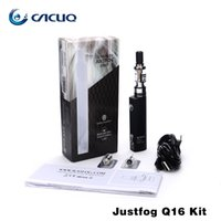 Justfog Q16 Starter Kits ecigarette Q16 2.0ml Tanques 510 Thread Bottom Coil Clearomizer y J-Easy 9 vv Battery 100% Original