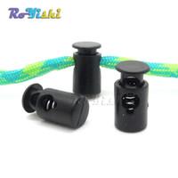 100pcs / lot mini fermo della serratura del cavo ampiamente usato per gli accessori dell'indumento / borse / nero del pizzo della scarpa