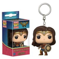 Funko POP Keychain Filme DC Schlüsselanhänger Wonder Woman Schlüsselanhänger Cartoon Figuren Movie Wonder Woman Actionfigur Spielzeug Neuheit
