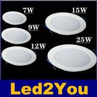 Ultra İnce Led Downlight Kısılabilir 7W 9W 12W 15W 18W 25W Led Armatür Tavan Işıkları 120 Açı AC 85-265V