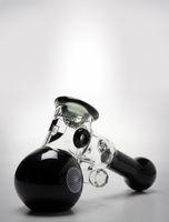 Queimador de petróleo tubos Sherlock Mini martelo vidro pesado parede de vidro alça concepção do tubo colher de fumar por erva seca