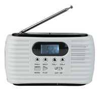 Dynamo Solar Radio FM AM Emergency Multiband With Cell Phone Charger Flashlight MP3 Player Y4179B Fshow