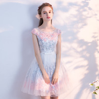 SSYFashion New Bridesmaid Dresses Sweet Flower Short Party G...