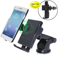 Qi Car Wireless Charger 2- in- 1 Car Phone Mount Air Vent Stan...