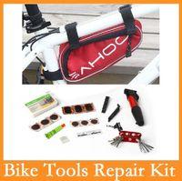 الجملة عالية الجودة الأصلي SAHOO 15 في 1 الدراجات أدوات دراجة دراجة كيت مجموعة مع الحقيبة مضخة حمراء / أزرق / أسود 3 ألوان الخيار
