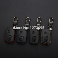 Pelle cucita a mano per cucire della copertura della cassa chiave dell'automobile per LEXUS LS460 LS600h LX570 GS300 GS430 RX450h RX350 accessori chiave a distanza