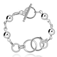 925 gioielli in argento placcato braccialetto donne braccialetto Femme 2016 mano braccialetti a catena catena vendita calda di alta qualità bellezza regali all'ingrosso