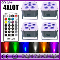 4pcs lot RGBWAUV 6 IN 1 Led battery wireless dmx led par lig...