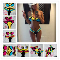 2015 Sexy Triangle Bikini Women Bandage Triangle neoprene be...