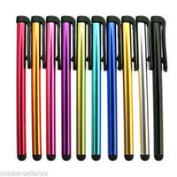Nuevo mejorar Universal Capacitive Stylus Pen para Iphone5 5S Touch Pen para teléfono celular para tabletas de diferentes colores