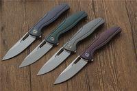 Freies Verschiffen, VESPA F7 faltendes Messer, das Blatt trägt: M390 (Satin / StoneWash) Griff: TC4 im Freien kampierende Jagdtaschefruchtmesser EDC Werkzeuge