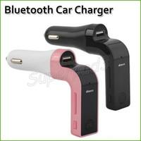 Darmowy DHL Wysyłka Samochód G7 Bluetooth Car Ładowarka FM Nadajnik MP3 Music Player Support SD TF Card HandFree FM Modulator Adapter 200 sztuk