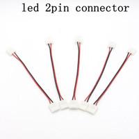 10 unids 2Pin Led Conector Para Solo Color Led Strip 5050 Dos Conectores Adaptador Fácil de Conectar Sin Necesidad de Soldadura