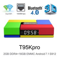 S912 Octa Core T95K Pro Android 7. 1 TV Box 1000M Lan BT4. 0 D...