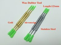 Gold and Silver Colours Wax Dabber Инструмент с силиконовыми колпачками 121 мм 106 мм 61 мм DAB Tools для ручки для испарения сухого трав