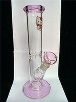 tiktok chaud lasso rose kitty kitty bang très épais verre droite charmant chat verre tabagisme base eau percolate verre bongs
