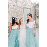 TUTU-rokken voor bruidsmeisje 2016 goedkope muntkleur baljurk tinle skit Maid of Dames rokken