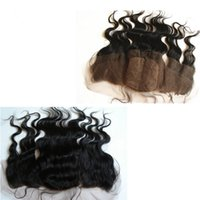 Peruvian Hair Body Wave 4x4 Silk Base Lace Frontal Closure Bleached Knots Free Middle 3 Way Part Silk Top Full Lace Frontals 13x4