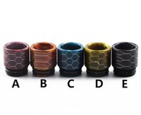 Newest Epoxy Resin Drip Tip Colorful Wide Bore Drip Tips Mou...