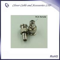 Buena calidad y envío gratis 10PCS / Lot BNC macho a AV RCA adaptador hembra conector BNC