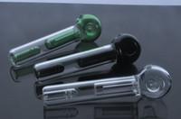 Echt bild bunte Mini griff glas pfeife löffel Bubbler Hybrid Spill Proof rauchen bong kostenloser versand