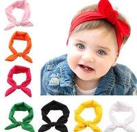 New Baby Bow Headbands Girl Hair Accessories Lovely Bunny Ea...