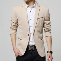 Оптом- завод цена весной осень мужчины мода одна кнопки пиджаки костюмы мужчины бизнес случайные блейзеры подходят высокое качество