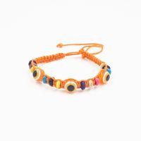 10 цветов ткать веревку строка браслеты повезло бисером Хамса Амулет акриловые сглаза браслеты для женщин Оптовая