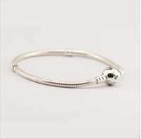 Fit pandora bracelet with cz paved micky head clasp logo 925...
