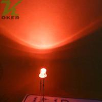1000pcs 3mm rote flache Spitzen-LED-Licht-Lampe führte Dioden 3mm flache Spitzen-ultra helle Weitwinkel-LED-freies Verschiffen